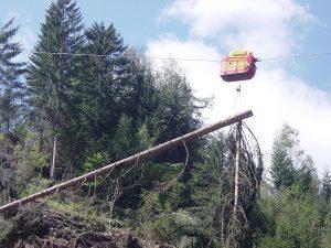 林業機械自走式搬器ウッドライナー