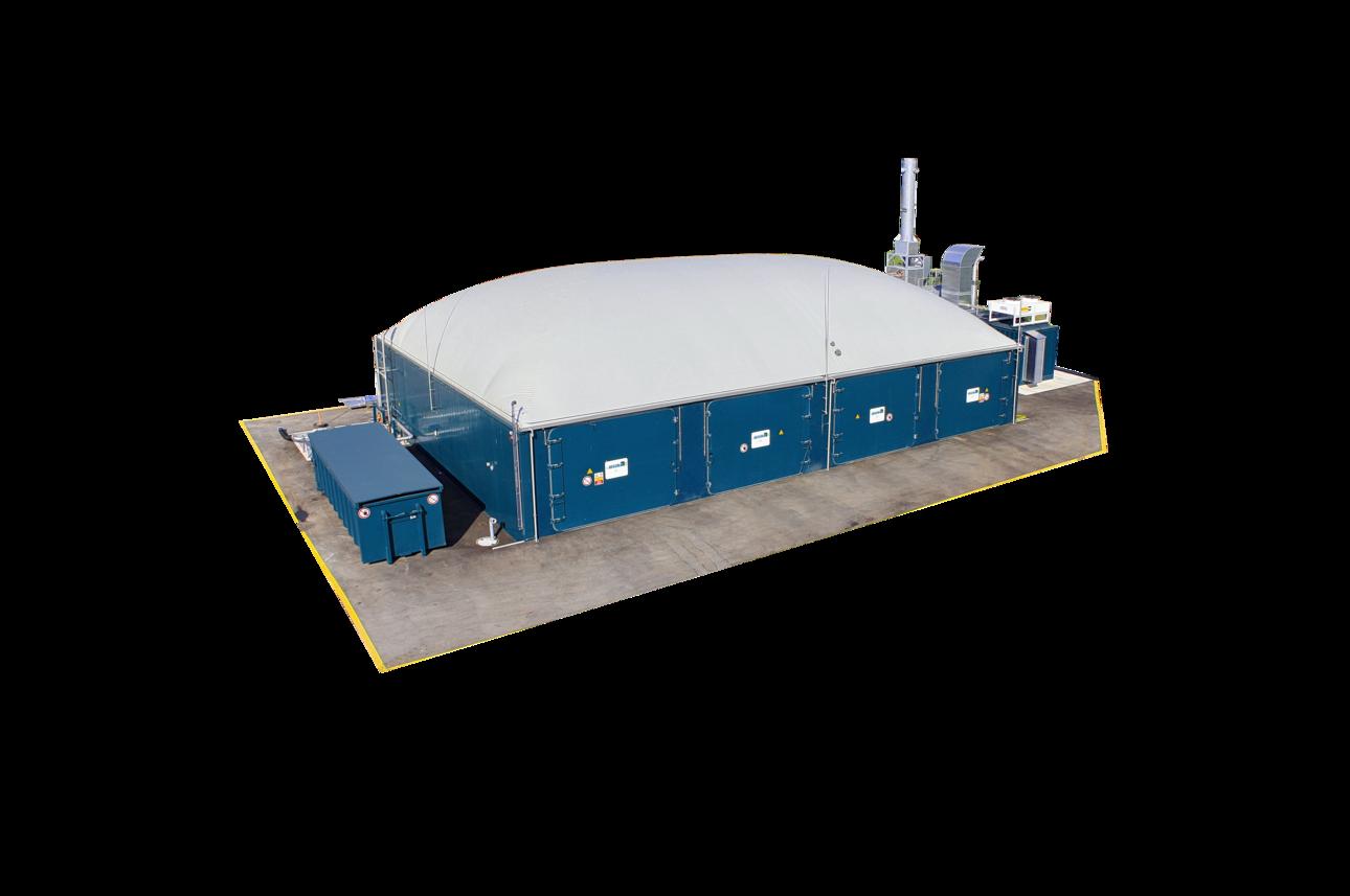 小型のバイオマス発電装置 乾式メタン発酵システム