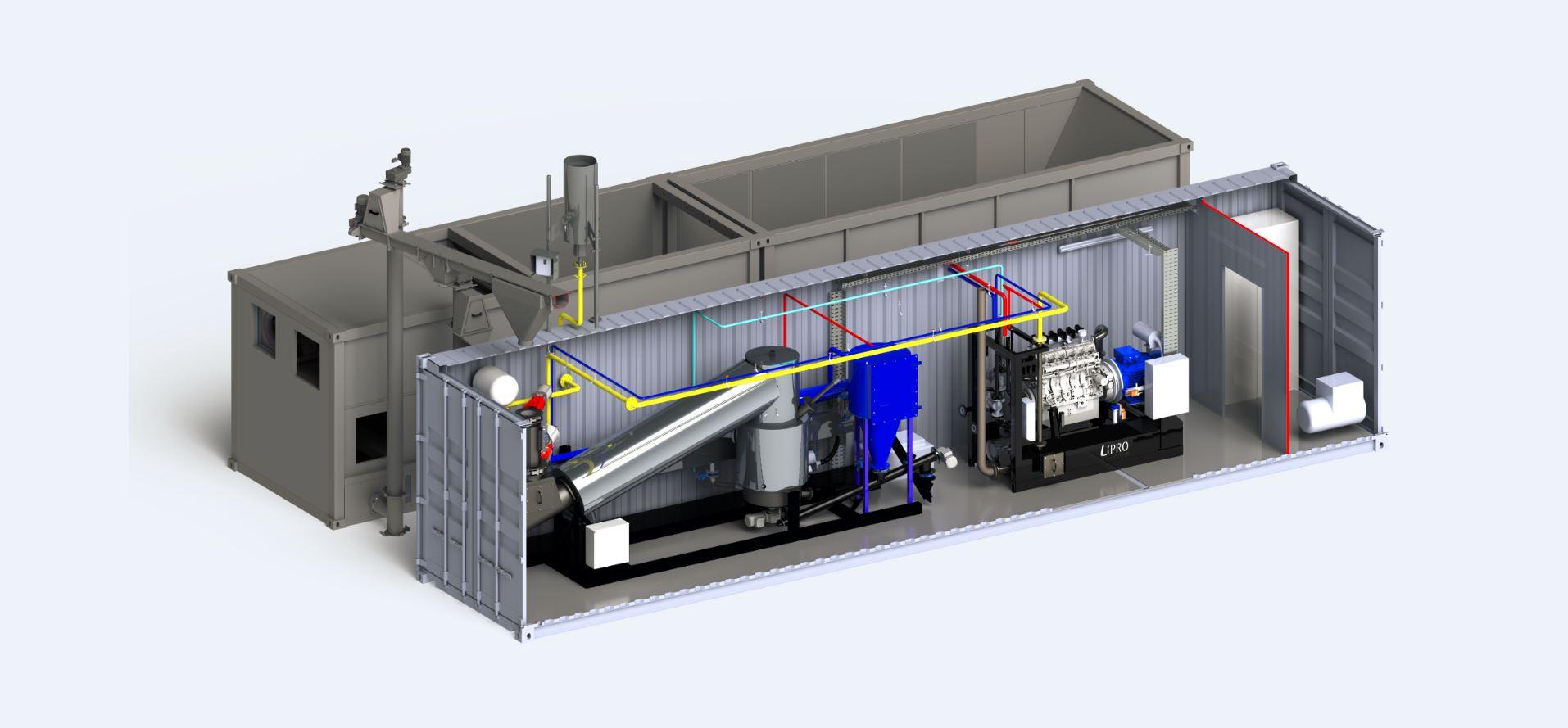 小型バイオマス発電 ガス化装置