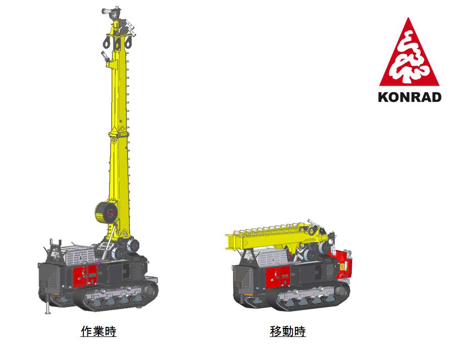 クローラー式タワーヤーダー KMR4000