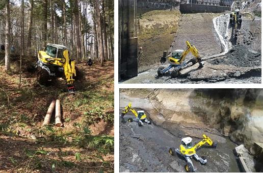 メンツィムック スパイダーの水力発電調整池での浚渫工事の様子
