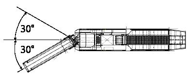 切削機 チッパー 牽引仕様 排出ベルトが左右に振れる